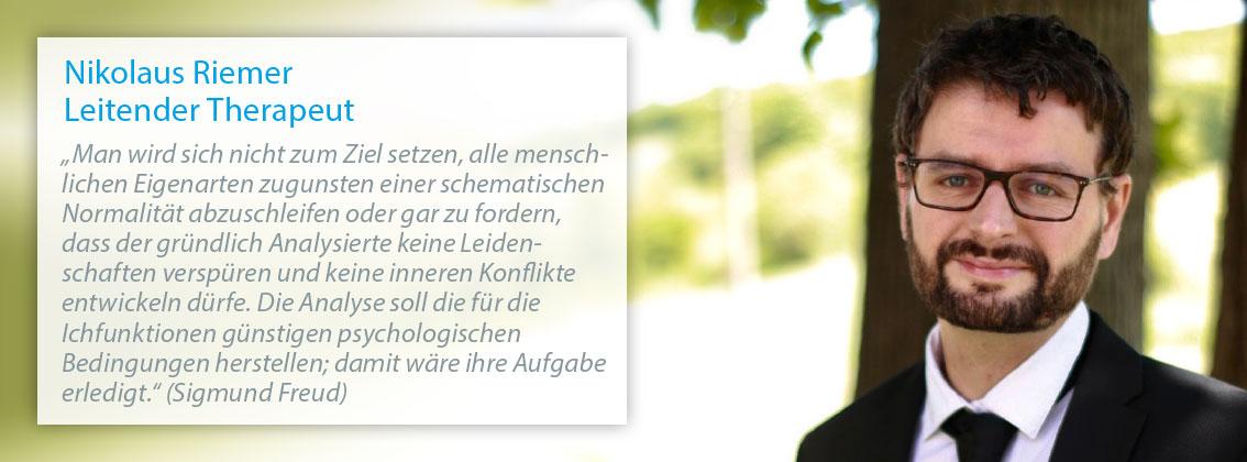 Nikolaus Riemer – Leitender Therapeut